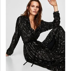 28e318b1 Black Sequin Dress Long Sleeve Zara – Little Black Dress   Black ...